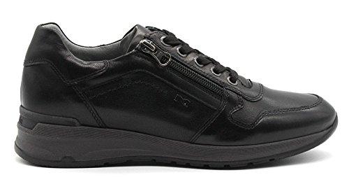 Negro Zapatillas Mujer Negro Negro Cuero Giardini para de Nero 15wxYZPw