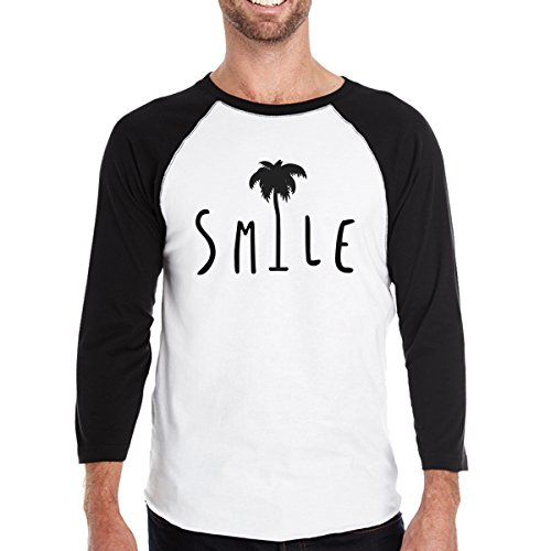 Taille Homme Manches Smile Palm Courtes 365 Unique Tree Printing T shirt OqBYX
