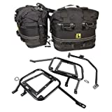 Tusk Pannier Racks with Wolfman Rocky Mountain Saddle Bags 2016 - Fits: KTM 990 Adventure Baja 2013
