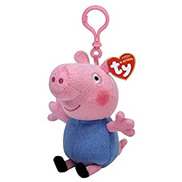 Ty UK Ltd Peppa Pig Llavero, Rosa y Azul: Amazon.es ...