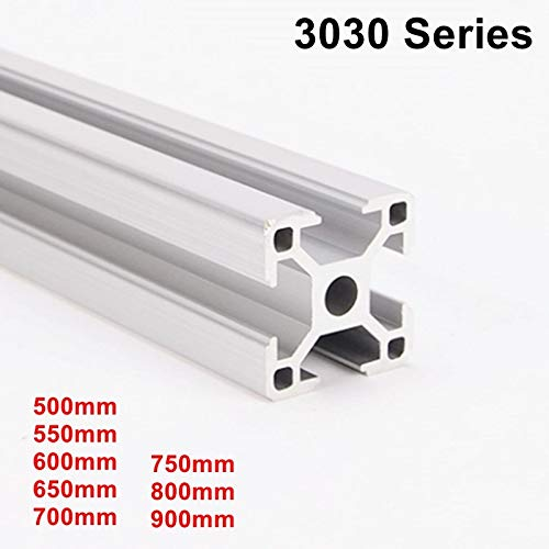 Ochoos 500mm to 900mm Industrial European Standard 3D Printer Frame Oxide Anodized Aluminum Extrusion Profile 3030 Series - (Color: 550mm)