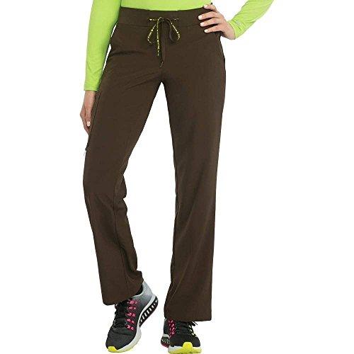 Med Couture Scrub Pants Women, Yoga Cargo Pocket Scrub Pant, Chocolate, Medium Petite