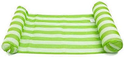 TongLingUSL 水ハンモックエアマットレスプールインフレータブルプールフロートクッションベッドラウンジチェアウォータースポーツアクセサリー (Color : 緑, Size : フリー)