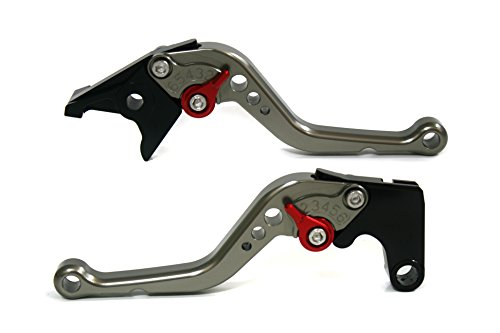 Price comparison product image Autobahn88 Performance-STD-Short-Series Motorcycle Clutch Brake Lever Set for Triumph TIGER 1050 / Sport 2007-2015 - Red / Titanium (Adjuster / Lever)