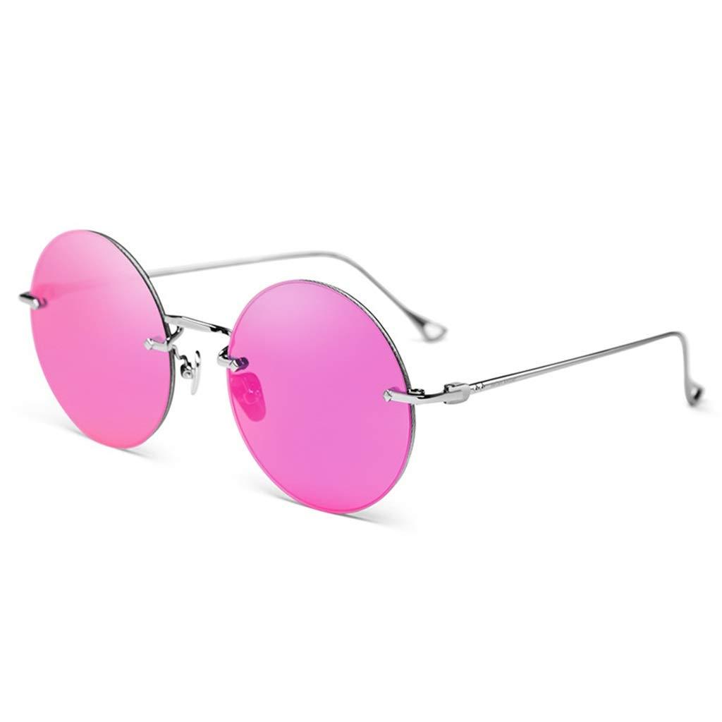 LIUXIN HD偏光サングラスアンチグレアサングラスレトロサングラス サングラス (Color : Pink)  Pink B07S2PPWYZ