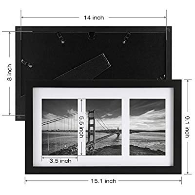 ONE WALL Tempered Glass 4x6 Collage Picture Frame with 3/5-Opening - Wall Mounting Hardware Included