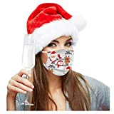 50 Pack 3Ply Christmas Disposable Face_Mask for