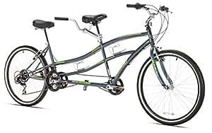 Kent Dual Drive Tandem Comfort Bike, 26-Inch, Blue