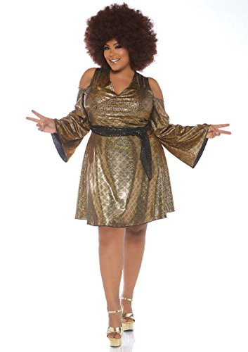 70's Halloween Outfits (Leg Avenue Women's Costume, Gold,)