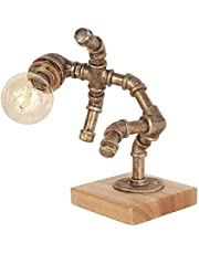 Retro industriële bureaulamp ijzer robot pijp bureau bureau retro bureaulamp ijzer water pijp bureaulamp industriële buis nacht licht ruimte decoratie