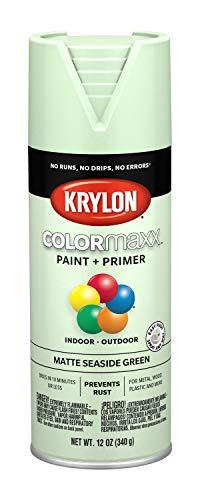 Krylon K05552007 COLORmaxx Spray Paint, Aerosol, Seaside Green (Best Mint Green Paint)