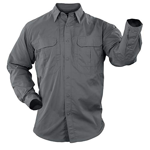 5.11 Tactical Men's Taclite Professional Long-Sleeve Button-Up Work Shirt, Teflon Treated, Style 72175
