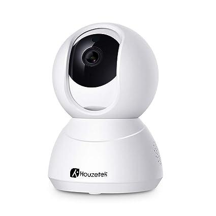 Cámara IP Wifi, Camara de Vigilancia Wifi Interior 1080P, Cámara 360 Grados Seguridad Wifi