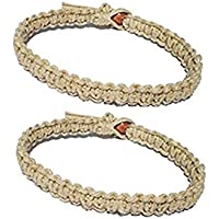 Luos Cultural Goods Two Natural Hemp Surfer Hawaiian Style Bracelet Anklet - Handmade- (A Set of 2) …