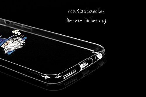 Leadtimes® Iphone 6 / 6S/ 6P/ 6SP Creativ Logo Hülle Transparent Bildserie Weich Silikon Schutzhülle Anti- Stoß (6P/6SP, Push)