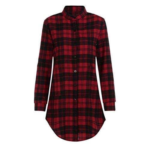 cuadros manga malla mini mujer para rojo Aimee7 larga a Vestido vestidos gfz77w