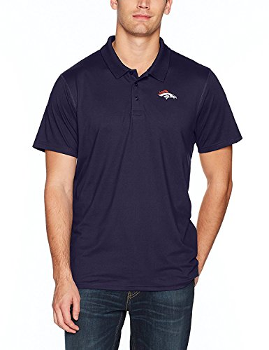 OTS NFL Denver Broncos Men's Sueded Short Sleeve Polo Shirt, Light Navy, XX-Large ()