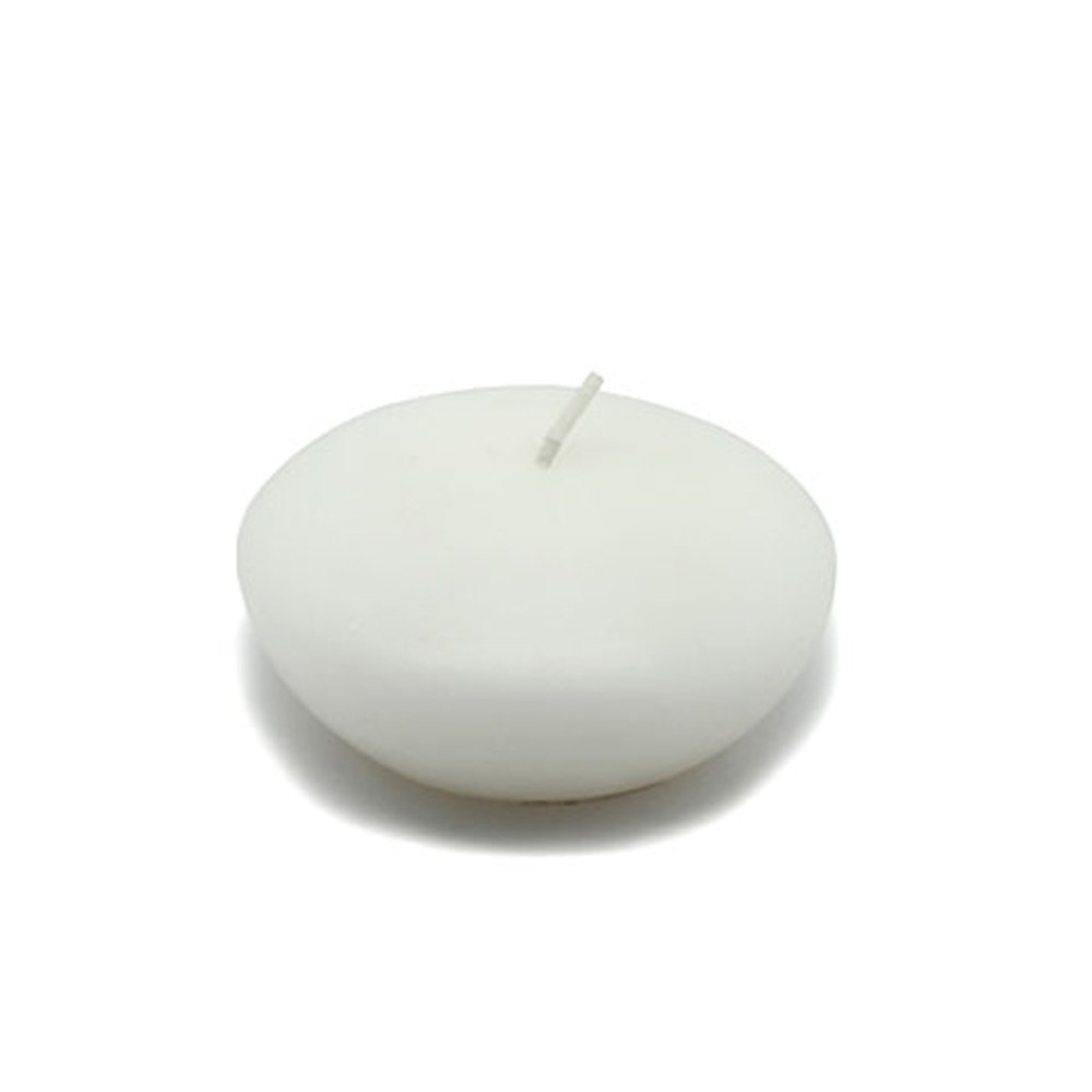 Zest Candle CFZ-045_12 144-Piece Floating Candle, 3'', White by Zest Candle