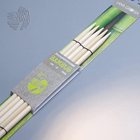 Lana Grossa Nadelspiel AKTION 5,5mm Strumpfstricknadeln Bambus 15cm
