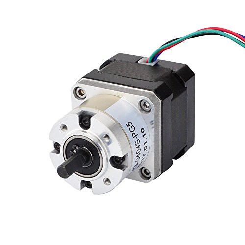 STEPPERONLINE 5:1 Planetary Gearbox Nema 17 Stepper Motor 0.4A for DIY CNC Robot 3D Printer