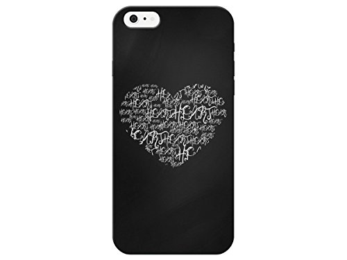 Chalkboard Worded Heart Phone Cover For Apple Iphone 6 Plus Case By iCandy Products