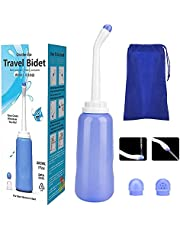 ARHEWORY Portable Travel Bidet Bottle Handheld Personal Bidet Sprayer with Extra Long Pointed Nozzle for Personal Hygiene Cleaning/Baby Care/Soothing Postpartum Care