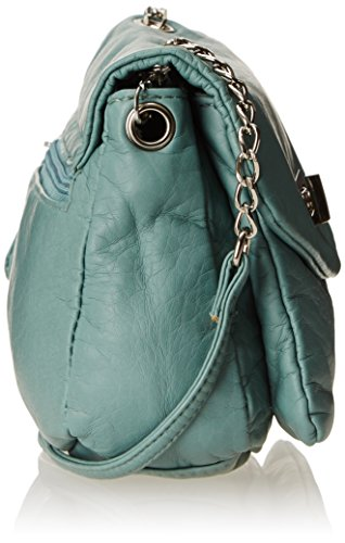 Wild Mint Pair Closure Cross Body Bag With Turnlock wrwHS