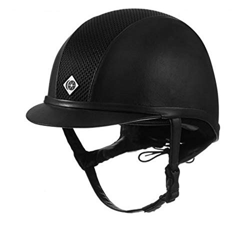 Charles Owen Ayr8 Plus Riding Helmet Round Fit Black 59cm