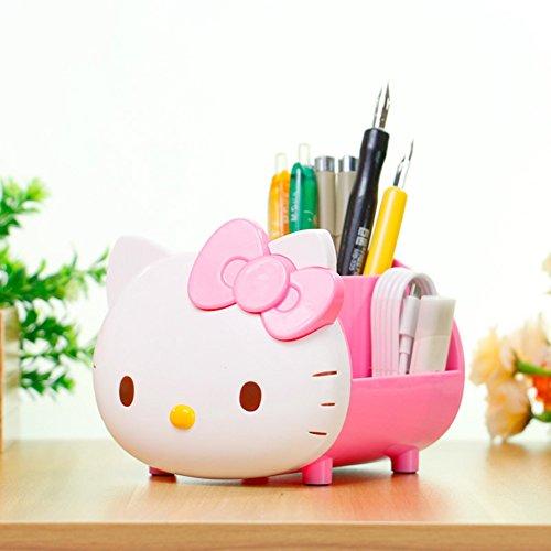 YOURNELO Pretty Multifunctional Hello Kitty Pen Pencil Holder Desk Organizer Accessories (Hello Kitty Gifts)