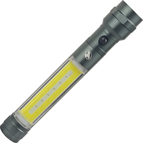 Outback Joey XL Utility Light 3in1 200 Lumen Flashlight 250 Lumen COB Side Light and Red Flashing Light and Magnetic Base Includes 3 AA Alkaline Batteries (Gunmetal) by Outback