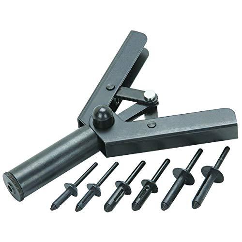 41 PC Assorted Plastic Riveter Rivet Gun Quick Set Hand Tool W/ 40 Poly Rivets