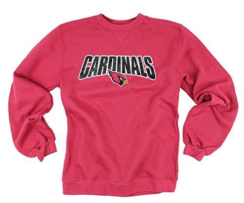 (Arizona Cardinals NFL Men's Fleece Crew Sweashirt - Red (Small))