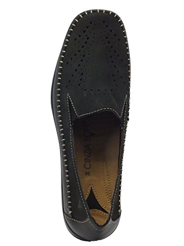 Cinzia Soft Iv5266-sp Black - Mocasines de Piel para mujer negro