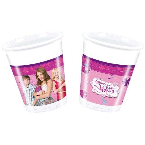 Disney Unique Party 71607 - 200ml Violetta Plastic Cups, Pack of 8