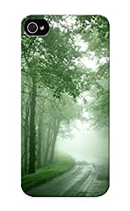 Cute High Case For Quality Case For Sam Sung Note 2 Cover Nature Forest Mist Roads Case Provided By Honeyhoney