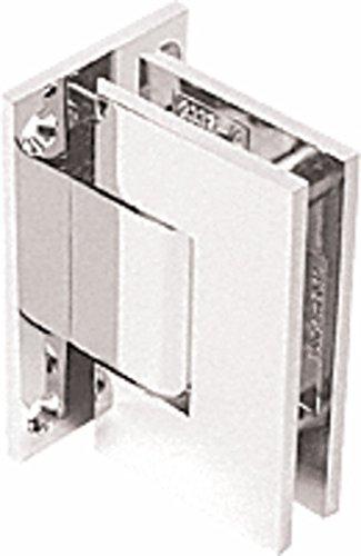 C.R. LAURENCE GEN337PN CRL Polished Nickel Geneva 337 Series Adjustable Wall Mount Full Back Plate Hinge