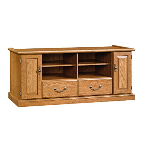 Sauder Orchard Hills Entertainment Credenza, Carolina Oak Modern Traditional Tv Stand