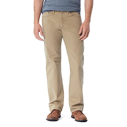 Mens Relaxed Fit Casual Pant - Wrangler Authentics Men's Authentics Classic Relaxed Fit Jean, Khaki Flex, 31x32