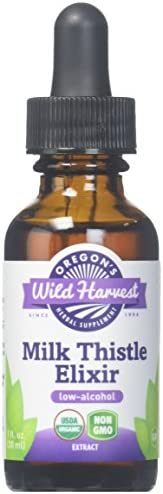 Oregon's Wild Harvest Milk Thistle Elixir Low Alcohol Organic Herbal Supplement