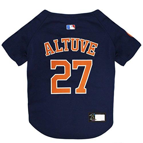 MLBPA Dog Jersey - Jose Altuve #27 Pet Jersey - MLB Houston Astros Mesh Jersey, X-Small Dog Puppy Football Jersey