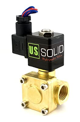 """1/2"""" 230 PSI Electric Solenoid Valve 12-VDC VITON Normally closed"""