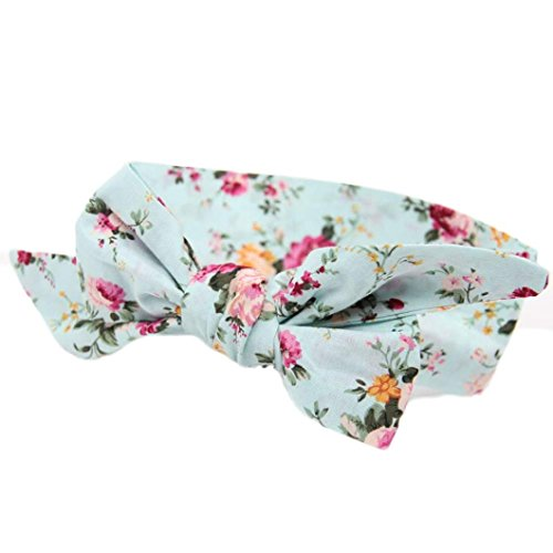 tenworld-baby-girls-headband-for-newborns-elastic-cotton-hair-band-sky-blue