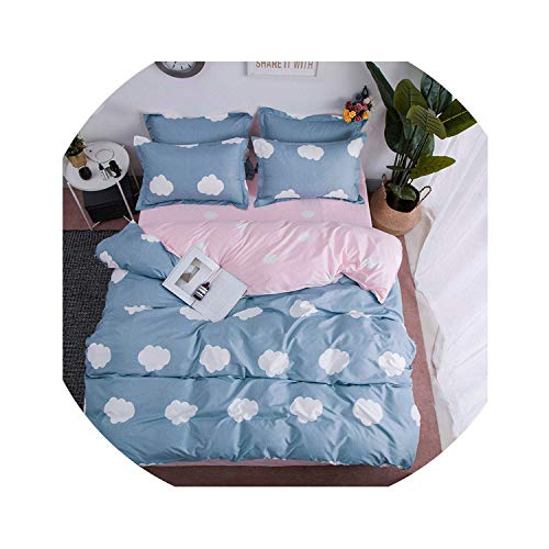 - HANBINGPO Leaf 4pcs Girl Boy Kid Bed Cover Set Duvet Cover Adult Child Bed Sheets and Pillowcases Comforter Bedding Set,2TJ-61023-011,Single Cover
