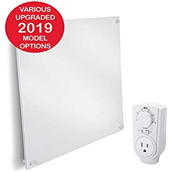 EconoHome Wall Mount Space Heater Panel - with Thermostat - 400 Watt Convection Heater - Ideal for 120 Sq Ft Room - 120V Electric Heater - Save Up to 50% of Heating Cost - Overheat Protection