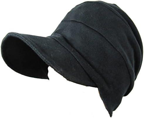 室内帽子オーガニックコットン段々キャスケット ブラック SIGN サイン NOC認定商品