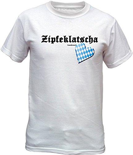Wiesn T-Shirt – Zipfelklatscher - lustiges Bayerisches Sprüche Shirt ideal für's Oktoberfest statt Lederhose und Dirndl