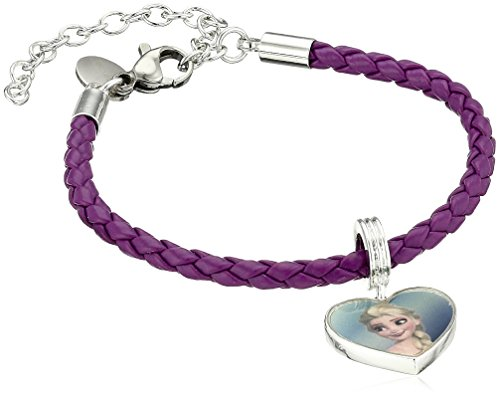 disney-girls-frozen-silver-plated-brass-elsa-and-anna-leather-bead-charm-bracelet