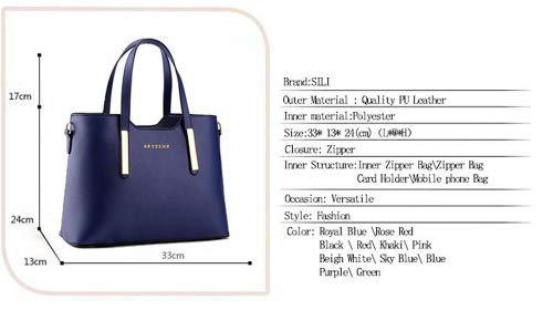 4a8cdb8be962 Women's PU Leather Shoulder Bags Top-Handle Handbag Tote Bag Simple Purse  Fashion Cross Body