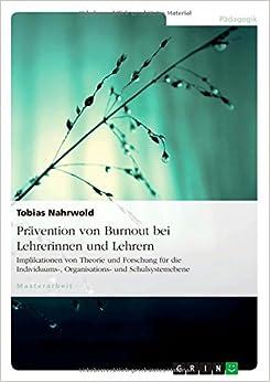 Book Pravention Von Burnout Bei Lehrerinnen Und Lehrern (German Edition)