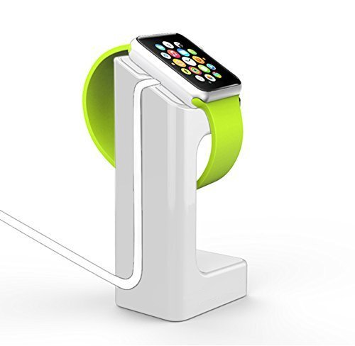 MG Charging Stand Stock Cradle Holder with Viewable Angle for Apple Watch , White ,Charging Cable & Watch Case & Watch NOT Included Black